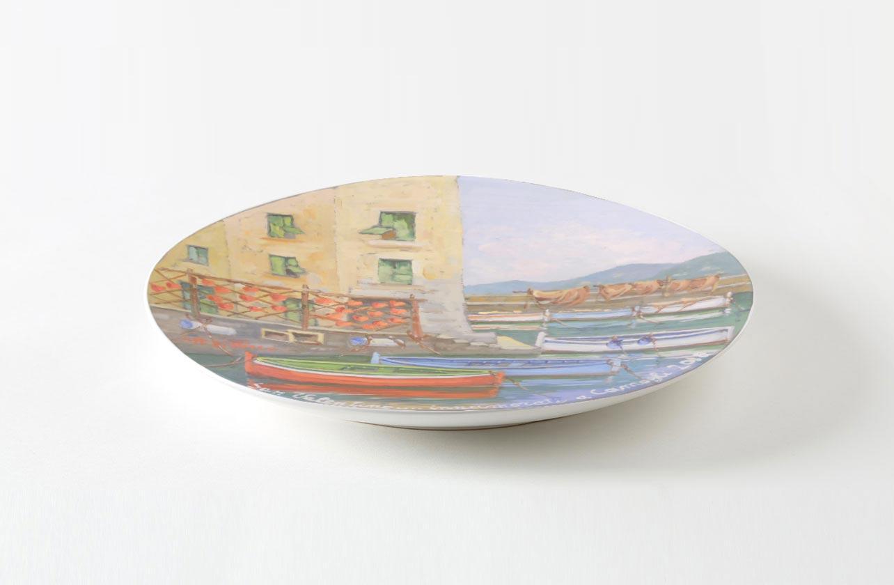 La Vena Artistica Genova san valentino 2018 a camogli con piatto da collezione
